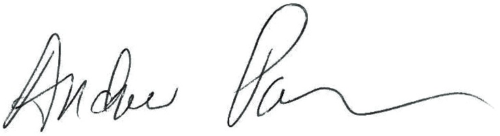 Andrew Packer's signature